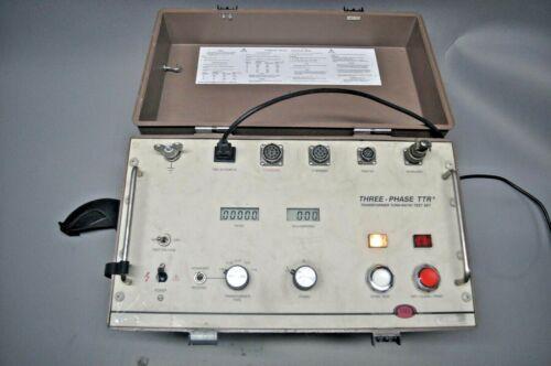 Biddle 550100 Three-Phase TTR Transformer Turn-Ratio Test Set Used Free Shipping