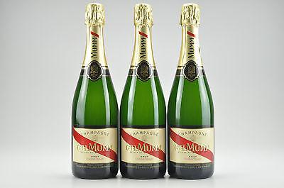 3--Bottles  N/V G.H. Mumm Cordon Rouge Champagne