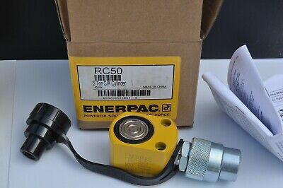 Enerpac Rc-50 Hydraulic Flat Pac Hydraulic Cylinder 5 Ton .63 Stroke 10000psi