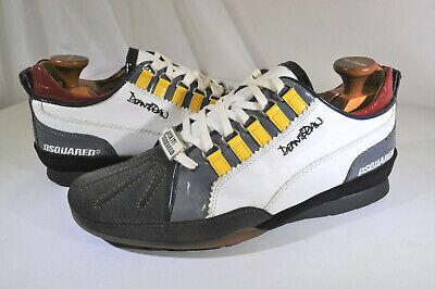 Dsquared2 Italian Lthr Sneakers Dean & Dan Super Fresh Multi Color 41 Men 8.5 M