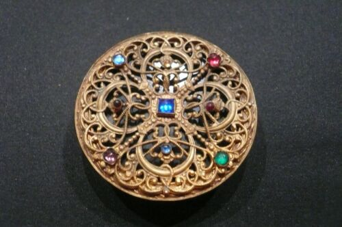 Small Antique Jeweled Austrian Compact