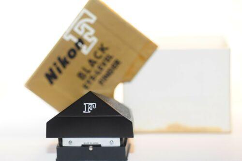 Nikon F Eye level prism Finder black w/ box for late 35mm film SLR Apollo camera