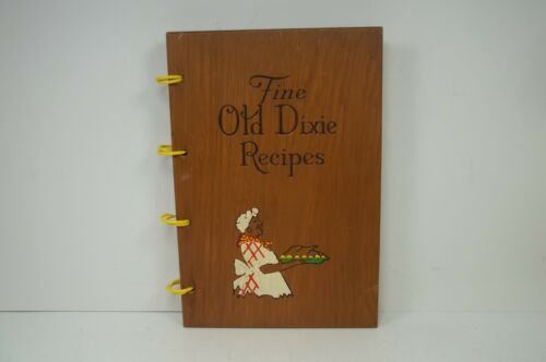 Fine Old Dixie Recipes Cookbook With Wood Covers