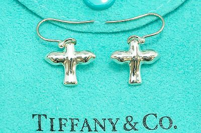 Tiffany & co. 92.5% Silver Kiss DOVE  Pierced Dangle Earrings by Elasa Peretti
