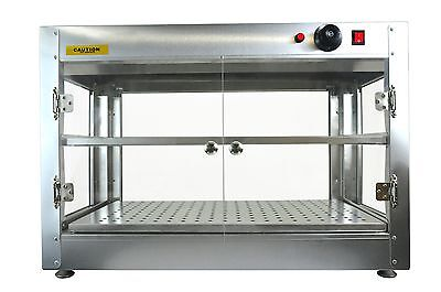 Commercial 30 X 15 X 20 Countertop Food Pizza Pastry Warmer Wide Display Case