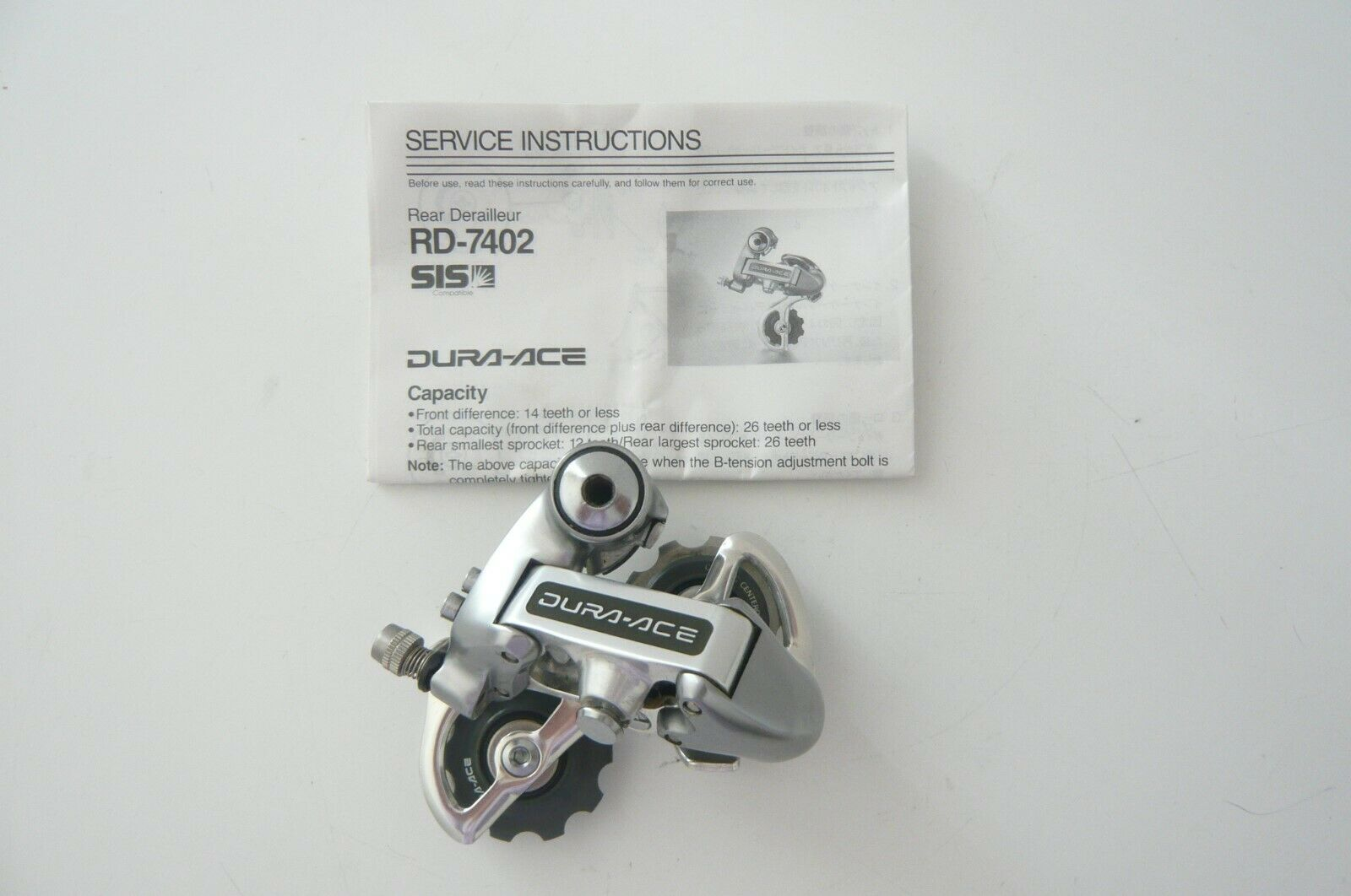Shimano RD-7402 Dura Ace 6, 7 and 8 speed rear derailleur
