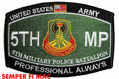 5TH MILITARY POLICE BATTALION HAT PATCH US ARMY VETERAN GIFT PIN UP MP (5 Piece Military Pin)