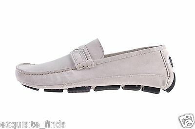 NEW VERSACE BEIGE SUEDE LEATHER DRIVER LOAFER SHOES 42 - 9
