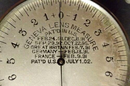 Lens { Measure } Geneva Lens Measure { Patents } C1891 [ Working ] Micrometer