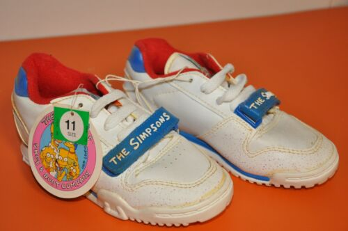 "RARE- BART SIMPSON ""VINTAGE YOUTH SNEAKERS/SHOES"" by CHADWICK IND./1990=SIZE(11)"