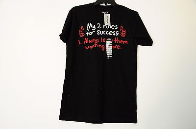 HOT TOPIC BLACK MATTER 2 RULES FOR SUCCESS FUNNY TEE BLACK SIZE SMALL NEW (Funny Topic)