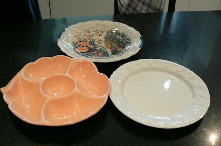3 x Serving Platters Ramsgate Beach Rockdale Area Preview