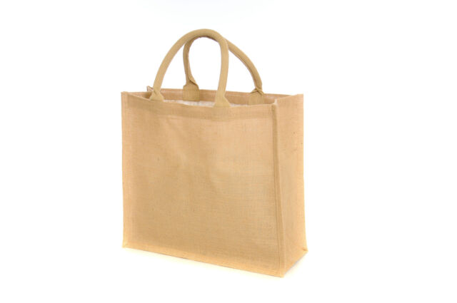 10 x Jute Hessian Large Luxury Plain Shopping Bag *X Mas Special*-Free Delivery