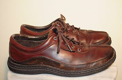 MERRELL Men's Sojourn Redwood Brown Leather Shoes Size 8.5 US CLEAN & SHARP