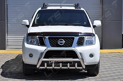 CHROME AXLE NUDGE BAR BULL BAR  FOR NISSAN NAVARA  2010 2015 STAINLESS STEEL
