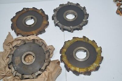 Mccrosky Lot Of 4 Indexable Milling Cutter Face Mill 12-slot 6 X 34 X 1-12