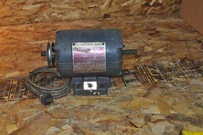 Vintage Montgomery Wards Powr Kraft Motor Dual Shaft Lathe Bench Motor 12hp