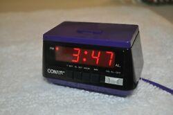 Vintage CONAIR Digital Alarm Clock (Purple, Model CL2001)