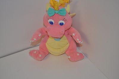 """DRAGON TALES CASSIE PINK DRAGON 11"""" PLUSH PLAYSKOOL 1999"""