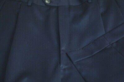 JB Britches Men's Navy Blue All Season Wool Pleated Dress Pants 40 x 34