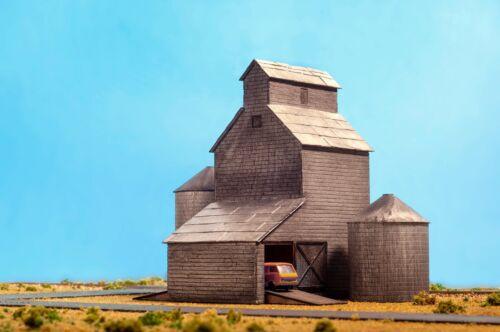 Laser Cut N Scale Grain Elevator Building kit w/Silo kit