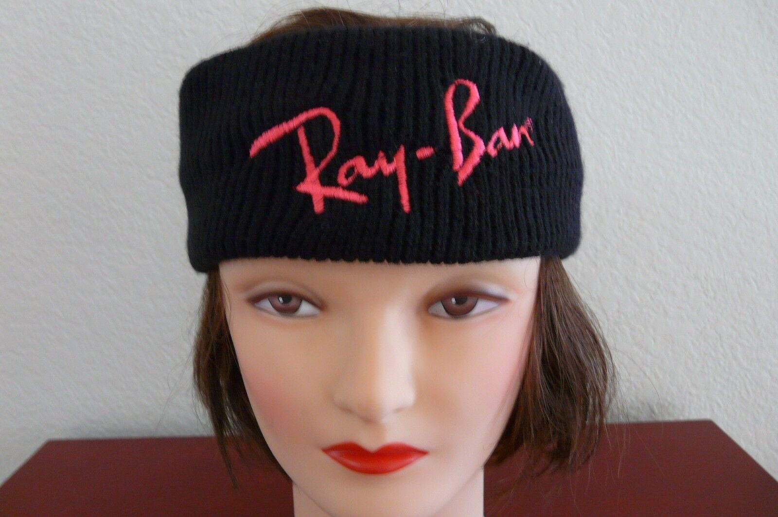REY-BAN 100% ACRYLIC KNITTED LIGHT BLACK COLOR SWEATBAND OSF
