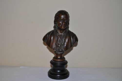 Antique Vintage Bronze Bust, signed F. Barbedienne Fondeur
