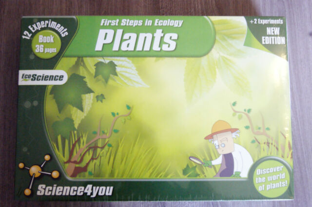 FIRST STEPS IN ECOLOGY BIOLOGY PLANTS SET AGES 6+ NEW SCIENCE4YOU 12 EXPERIMENTS