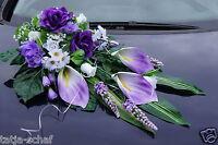 Auto Nuziale Matrimonio Decorazione Per Automobile Lilla La36 -  - ebay.it