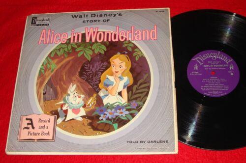 Vintage Disney LP Record - Alice in Wonderland - Mickey Mouse Club / Disneyland