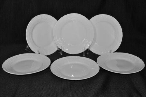 "Richard Ginori Vecchio Bianco White Bread & Butter Plates Round 6.75"" Set/6  New"