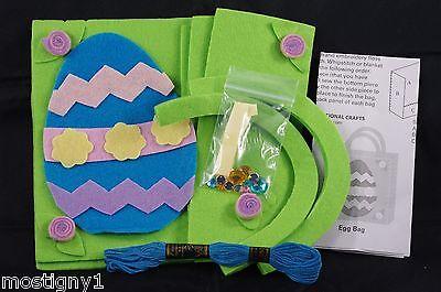 Kids Crafts – Easy Sew Felt Easter Bag Craft Kit (Makes 1) - Egg  - Plus - Easy Kids Crafts