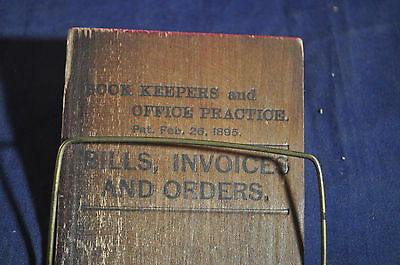 1895 Bills, Invoices and Orders Keeper