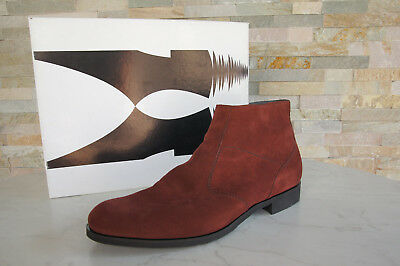 MORESCHI Gr 41,5  7,5 Stiefeletten Stiefel Schuhe 40322 rotbraun NEU UVP 390 €