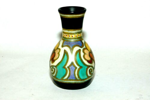 Beautiful Gouda Zuid Pottery miniature Arlst 4261 vase Holland art Nouveau