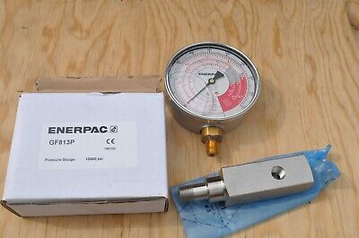 Enerpac Gf813p Wga2 Gauge Adapter For Rch202302603 Hollow Cylinders New