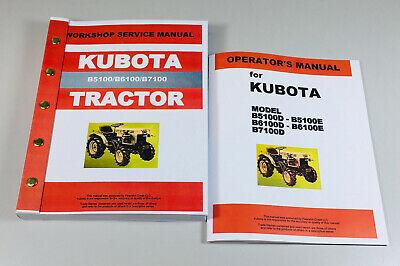 Kubota B5100 B6100 B7100 Tractor Service Operators Repair Shop Manual 2wd 4wd