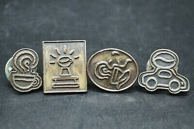 Vintage Starbucks Coffee Master Barista Apron Hat Cap Pin Complete Set of 4