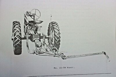 Ih International Mcormick No 16 Rear Mount Sickle Mower Manual Farmall A B H M