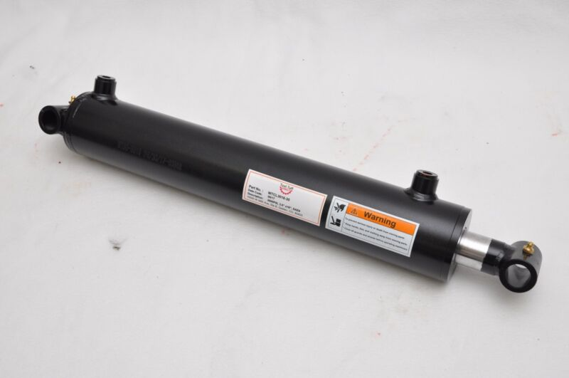 "3"" Bore x 16"" Stroke Welded Cross Tube Welded Cylinder 3000 PSI, SAE Ports"