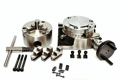 Rotary Table 4 Inch Or 100mm With Backplate And 80mm Lathe Chuck For Milling Mc