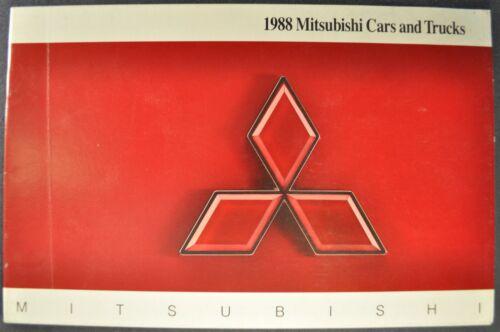 1988 Mitsubishi Brochure Starion Galant Cordia Mirage Precis Montero Pickup Van