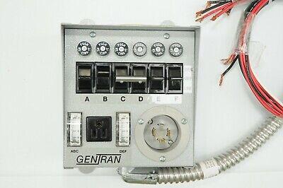 Gen Tran 20216 Manual Transfer Switch 5000w 120240 20a For Generator