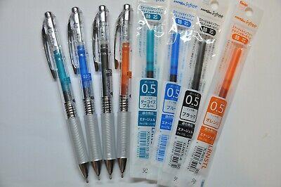 Pentel Energel Infree 0.5 Gel Pen 4 Pcs Refill Set Color Can Exchange