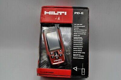 Hilti Tools Pd-e Laser Range Meter Rangefinder Distance Measurer Wcase