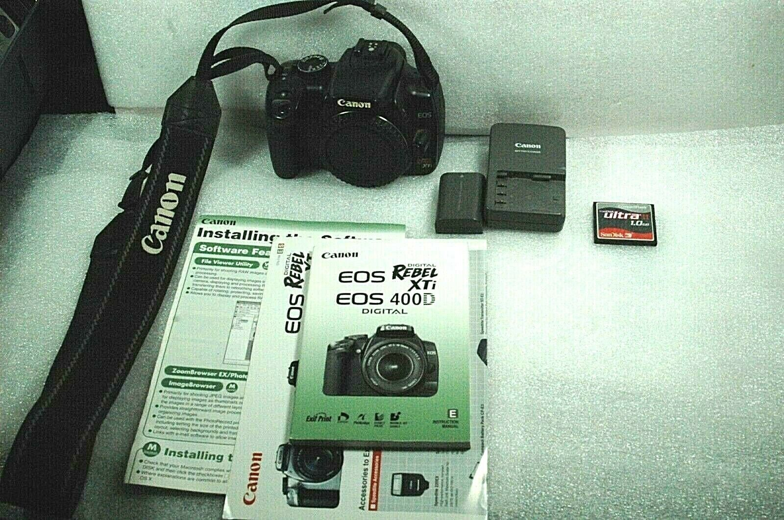Canon EOS Digital Rebel XTi / EOS 400D 10.1MP DSLR Body Only Very Good - $69.99
