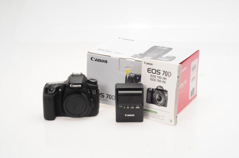 Canon 70D Digital SLR 20.2MP Camera Body                                    #793