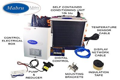Marine Self Contained A/C Unit by Mabru 10K BTU 230V w/ Digital Control & pump