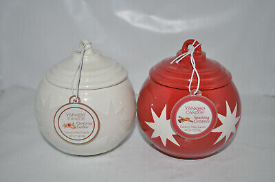 Yankee Candle Christmas Cookie / Sparkling Cinnamon Lot of 2 Ornaments