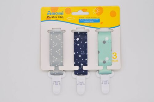 3 Pack of Pacifier Clips for Baby Sturdy Safe Premium Qualit